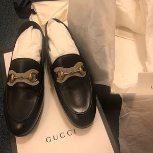 Authentic Gucci Brixton Loafers Size 36 Black